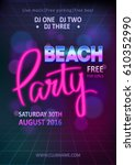 night club show poster template ... | Shutterstock .eps vector #610352990