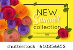 summer fashion shopping banner... | Shutterstock .eps vector #610356653