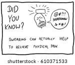 swearing as pain relief   fun... | Shutterstock .eps vector #610371533