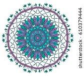 flower mandalas. vintage... | Shutterstock .eps vector #610379444