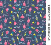 seamless pattern with colorful... | Shutterstock .eps vector #610380866