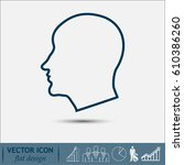 line icon  silhouette of a man | Shutterstock .eps vector #610386260
