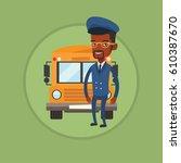 african american school bus... | Shutterstock .eps vector #610387670