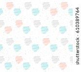 handmade line seamless pattern... | Shutterstock .eps vector #610389764