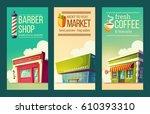 set of vector cartoon... | Shutterstock .eps vector #610393310