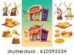 vector cartoon illustration of... | Shutterstock .eps vector #610393334