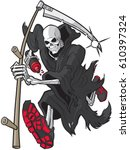 vector cartoon clip art... | Shutterstock .eps vector #610397324