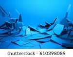 abstract 3d rendering of... | Shutterstock . vector #610398089