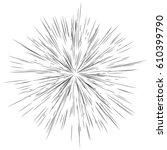 radial lines  star burst ... | Shutterstock .eps vector #610399790
