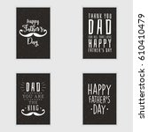 happy fathers day | Shutterstock .eps vector #610410479