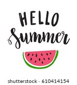 hello summer   hand written... | Shutterstock .eps vector #610414154