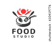 food studio vector logo.... | Shutterstock .eps vector #610419776