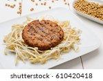 soy burgers | Shutterstock . vector #610420418