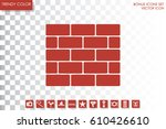 Bricks Icon Vector Illustratio...