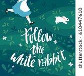 follow the white rabbit vector...