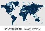 blue world map.   Shutterstock .eps vector #610449440