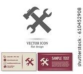 business cards design.vector... | Shutterstock .eps vector #610452908