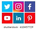 valencia  spain   march 20 ... | Shutterstock . vector #610457729