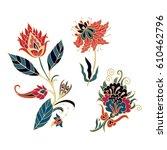 set of vector flowers | Shutterstock .eps vector #610462796