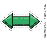 cartoon green arrow digital... | Shutterstock .eps vector #610467656