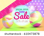 easter. sale. easter background. | Shutterstock .eps vector #610473878