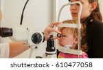 child's ophthalmology   doctor... | Shutterstock . vector #610477058