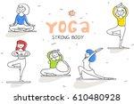 vector set of healthy lifestyle ... | Shutterstock .eps vector #610480928
