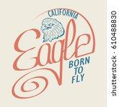 """eagle"" athletic design ...   Shutterstock .eps vector #610488830"