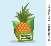 pineapple natural product... | Shutterstock .eps vector #610492190