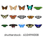 set of colorful vector... | Shutterstock .eps vector #610494008
