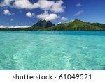 bora bora and its turquoise...   Shutterstock . vector #61049521