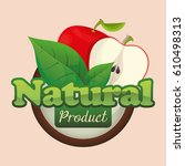 apple natural product fruit... | Shutterstock .eps vector #610498313