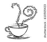 delicious coffee cup icon | Shutterstock .eps vector #610505423