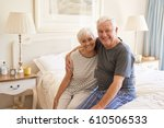 portrait of a happy and content ... | Shutterstock . vector #610506533
