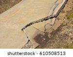 cracked and broken area of...   Shutterstock . vector #610508513