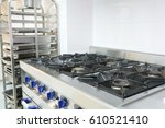 professional kitchen stove | Shutterstock . vector #610521410