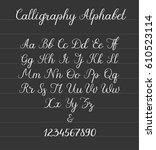 calligraphic alphabet.... | Shutterstock .eps vector #610523114