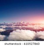 Sky And Big Mountains Over...