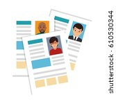 curriculum vitae documents icon | Shutterstock .eps vector #610530344