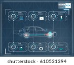 futuristic user interface. hud... | Shutterstock .eps vector #610531394