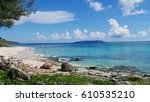 tachogna beach 1  tinian...   Shutterstock . vector #610535210