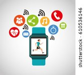 wearable technology with... | Shutterstock .eps vector #610536146