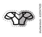 jersey american football sport...   Shutterstock .eps vector #610547420