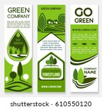eco business banner template... | Shutterstock .eps vector #610550120