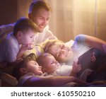 happy family  father  mother... | Shutterstock . vector #610550210