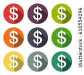 illustration icon currency bit... | Shutterstock .eps vector #610554296