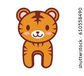 cartoon tiger animal image...   Shutterstock .eps vector #610558490