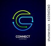 letter c logo  circle shape... | Shutterstock .eps vector #610560260
