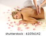 woman enjoying massage | Shutterstock . vector #61056142