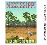 state of mississippi travel... | Shutterstock .eps vector #610578716